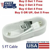 For Samsung Galaxy S6 S7 Edge Note 5 Fast Rapid Charger Cord Micro USB Cable 5FT