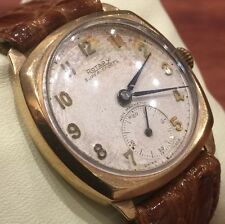 Gold Art-Deco Gents' Watch by ROTARY, Super-Sports. Non magnetic. Manual. 1930's