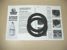 """JBL 2+8"""" Woofer Foam Repair Kit For JBL Models 117,117A,117H,117H-1."""