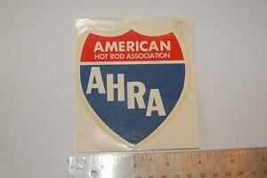 "VINTAGE DRAG STRIP DECAL ""American Hot Rod Association"""