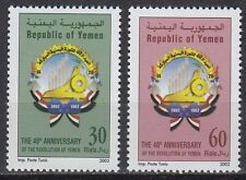 Yemen Republic 2002 ** Mi.257/58 Revolution