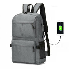 ALLACKI Large Capacity Leisure Business Bag with USB Charging Canvas Backpack