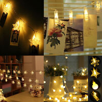 3m Snowflake Bulb Ball Stars Photo Clip LED Fairy String Lights Xmas Wedding