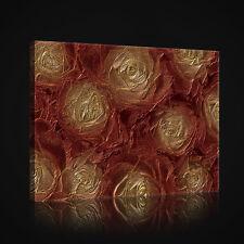 CANVAS WANDBILD LEINWANDBILD POSTER FOTO ROSEN BRAUN GOLD KUNST BLUMEN 3FX2631O6