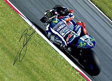 Jorge LORENZO SIGNED 16x12 Autograph Race Photo AFTAL MOTOGP Movistar Yamaha