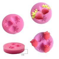 Cute Fruits Fondant Chocolate Mould Strawberry Shape Cake Mold Decoration Tool