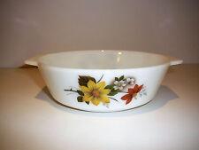JAJ Pyrex England Autumn Glory / Dahlia Round casserole Dish Cookware Bakeware