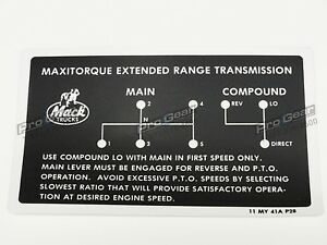 25009436 Mack Transmission 6 speed TRXL107 Two Stick Shift Pattern 11MY41AP28