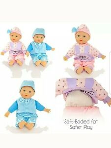 Molly Dolly Twin Dolls - 30Cm Soft Bodied Girl & Boy Set - Suitable From  +