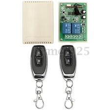 12V 10A 2CH Channel Remote Control Switch Relay Wireless Transmitter + Receiver