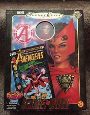 "Marvel Comics Famous Covers 8"" Posable Figure Scarlet Witch Toybiz"