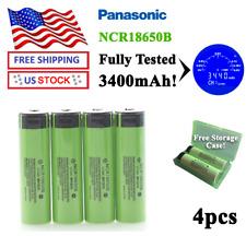 4pcs 2019 PANASONIC NCR18650B Button Top Batteries - Fully Tested 3400mAh - USA