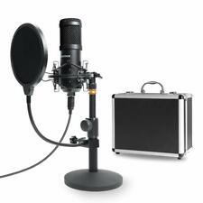 Podcast Microphone Set Professional Aluminum Storage Case Desktop Stand Mic