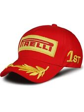 Embroidered Pirelli F1 Racing Cap (Red): One Size Fits Most