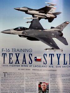 2012 Lockheed Martin Magazine F-16 Training F-22 Chronology Supersonic Convair