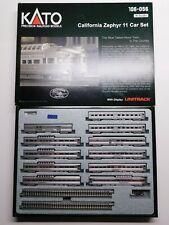 N Scale - KATO 106-056 California Zephyr (11) Car Passenger Train Set RARE
