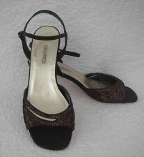 Caparros Brown Sequined Heels Sandals Size 8 B 8B