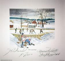 Signed Lafleur, H. Richard, Beliveau, M. Richard Lithograph - Montreal Canadiens