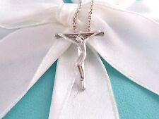 Tiffany & Co Silver Peretti Cross Crucifix Pendant Necklace Box