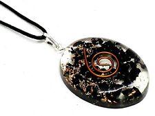 Orgone Black Tourmaline Pendant Schorl Reiki Protective Necklace Genuine