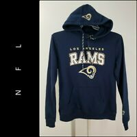 Small NFL Los Angeles Rams Mens Fleece Hoodie Pullover Sweatshirt Vintage Logo Gray