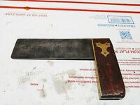 """Antique Stanley 6"""" No 2 Plated Try Square,  Type 2 (1859-1887)"""