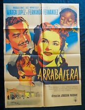 ARRABALERA Marga Lopez MEXICAN MOVIE POSTER 1950 Vintage FERNANDO FERNANDEZ