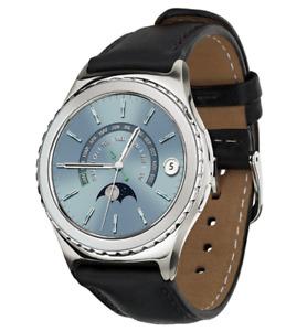 ✅Samsung Galaxy S2 Classic SM-R732 Smartwatch Original leather Strap Silver