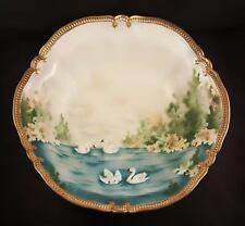 Beautiful Antique RS PrussiaPorcelainChina Bowl Swan Pattern