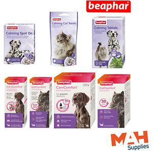 Beaphar Calming Range Dogs Cats Tablets Spray Spot-On Collar Diffuser Anxiety