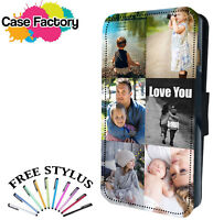 Personalised Custom Printed Photo Picture Flip Wallet Phone Case Collage Design