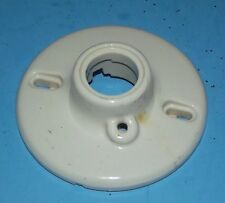 Ceiling Wall Old Light Fixture Porcelain White Vintage about 4 1/2""