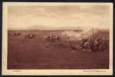 Cpa Guerre Mailly le Camp - Artillerie Batterie de 75 mm au tir
