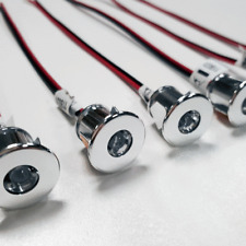 6 X LED 12V MINI SPOT LIGHTS FOR CAMPERVAN MOTORHOME - COOL WHITE LIGHT