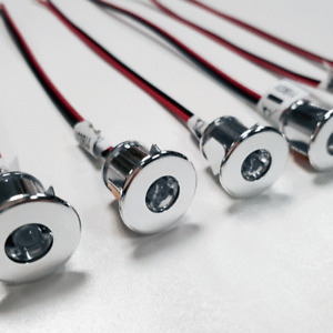 6 X LED 12V MINI SPOT LIGHTS FOR CAMPERVAN MOTORHOME - WARM WHITE