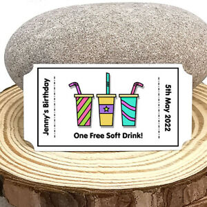 FREE DRINK Tokens For KIDS/CHILDREN at Weddings/Parties! 25 per pack