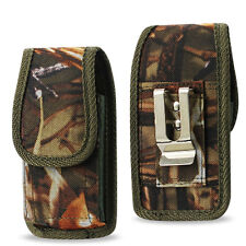 Camouflage Vertical Heavy Duty Rugged Canvas Pouch Case for iPhone SE, 5S, 5C, 5