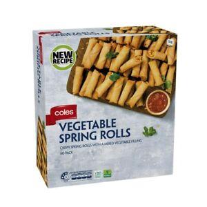 Coles Frozen Vegetable Spring Rolls 60 pack 1kg
