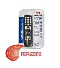 TELECOMANDO UNIVERSALE PER TUTTE LE MARCHE TV NERO MELICONI CONTROL ART.808032