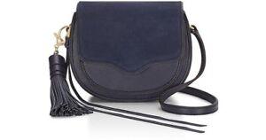 Rebecca Minkoff Mini Suki Crossbody Bag Moon Leather/Suede, MSRP $175