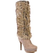 BEAUTIFUL FERGIE brand Captive Faux Fur Boots NEW IN BOX SIZE 9 1/2 M