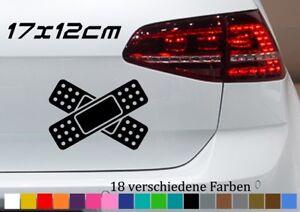 Pflaster Aufkleber 17x12cm Auto Delle Beule Unfall Kratzer Sticker Car Fun JDM