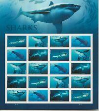 2017 Forever Sharks full Sheet of 20 Scott #5223-5227, Mint NH