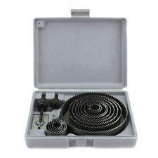 16 Pcs Metal Hole Saw Set Drill Bits Kit Woodworking Cutter Tool 19-127mm W/Case