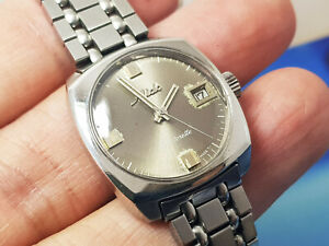 Swiss-made Mido Datorette Automatic Ladys Rare with original beads of rice band.