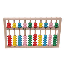 Wooden Counting Frame With Beads Arithmetic Beginner Teaching Abacus Toy CB