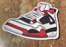 "Nike Air Jordan Retro 4 IV ""Mars"" White/Varsity Red-Black Sticker"