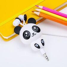 Earphones Kawaii Cat Panda Shaped Stereo Earbuds Retractable Headphones