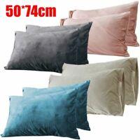 Velvet Pillow Case Pillowcase Cover Queen Standard Cushion Bedding Accessories