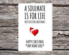 personalised name christmas soulmate funny cute xmas card husband/wife/boyfriend